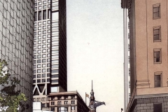 David Wardman, Martin Place, watercolour