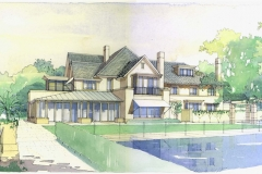 David Wardman, House Vaucluse, watercolour