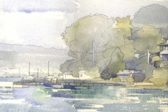 David Wardman, Pittwater House, watercolour