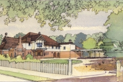 David Wardman, Turramurra House, watercolour